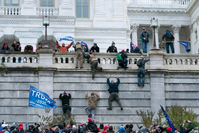 A group of Trump supporters stormed the Capitol building on Jan. 6, 2021, following a speech by the president.