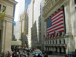 The New York Stock Exchange's Broad Street entrance on Wall Street.