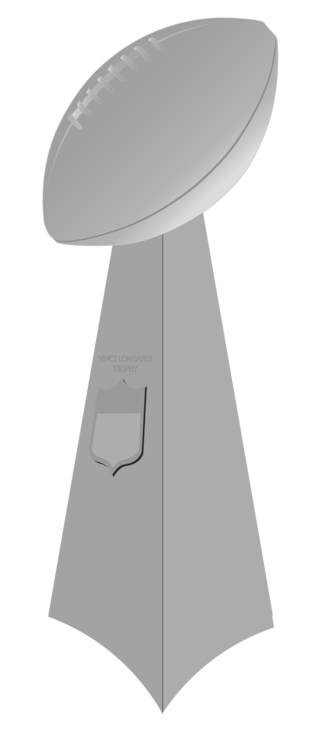 The Lombardi Trophy, awarded annually to the winner of the Super Bowl.