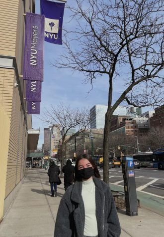 Senior Ryan Pierson visiting NYU, the school she will attend in the fall.