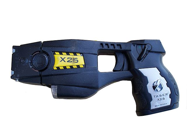 Typical taser gun that is issued to cops.